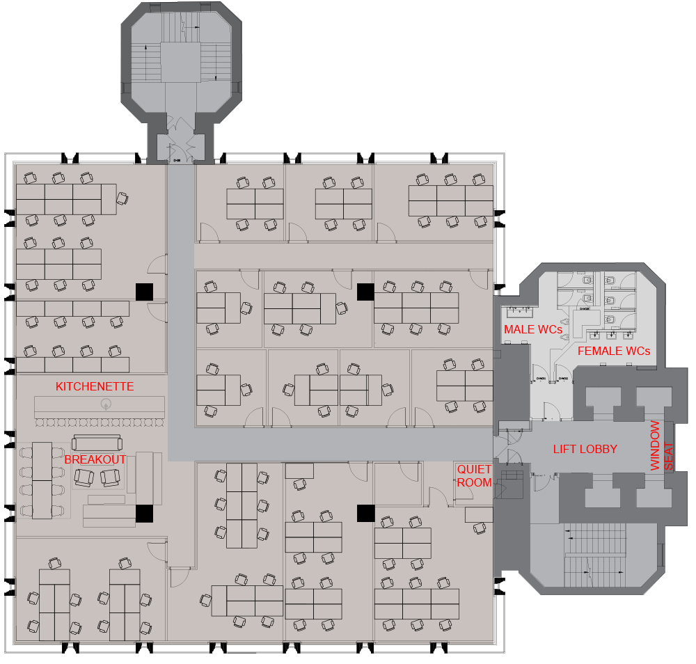 Capital Tower typical floor plan