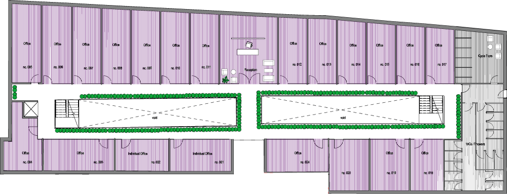Olympia Mews typical floor plan